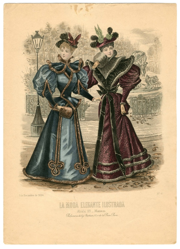 La Moda Eleganted Ilustrada 1894 muff
