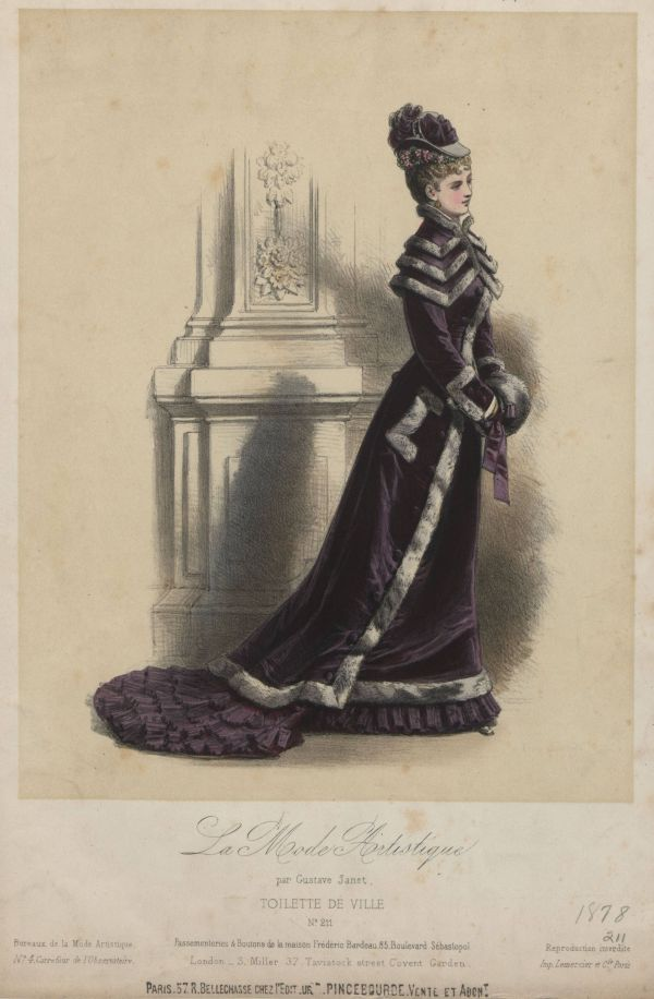 La Mode Artistique 1878 winter purple