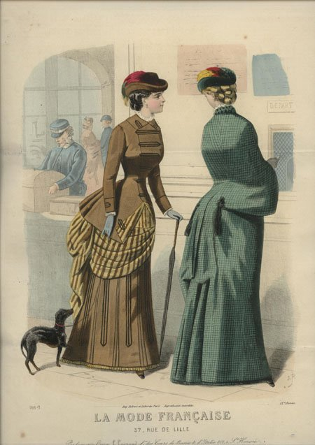 La Mode Francaise 1883 railway station
