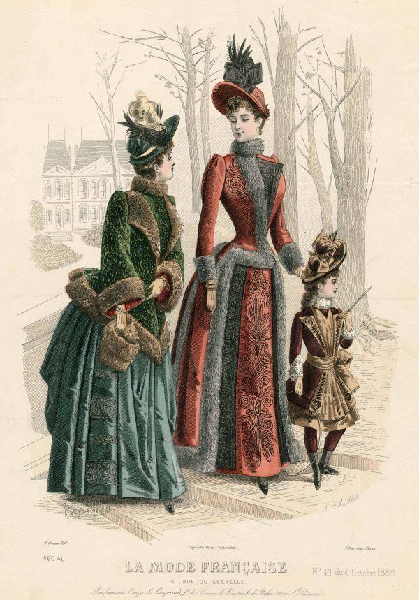 La Mode Francaise 1888 winter