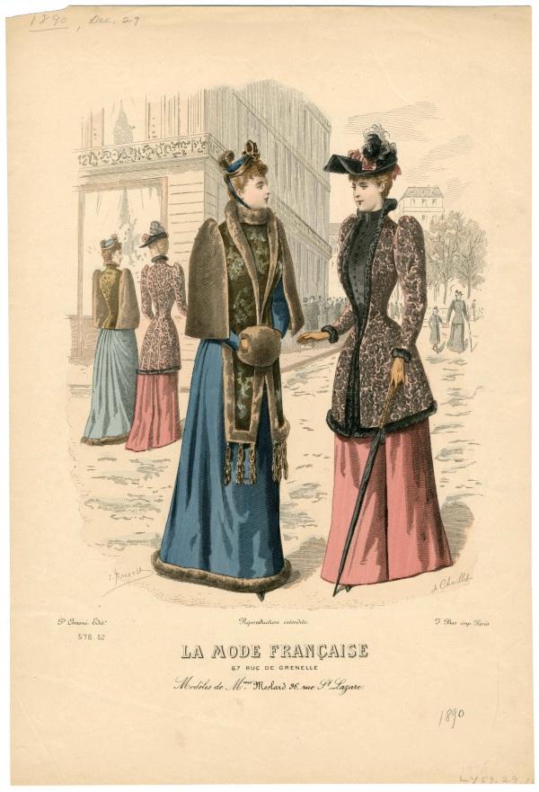 La Mode Francaise 1890 muff
