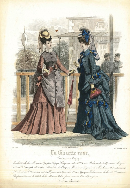 La Mode Illustrae 1873 railway station
