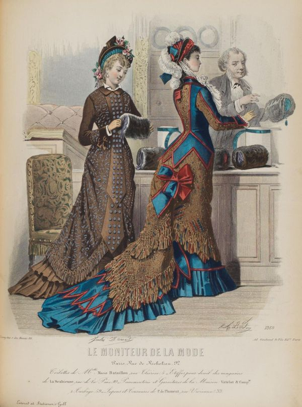 Le Moniteur de la Mode 1876 muff shop