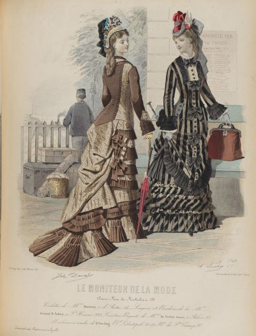 Le Moniteur de la Mode 1876 railway station