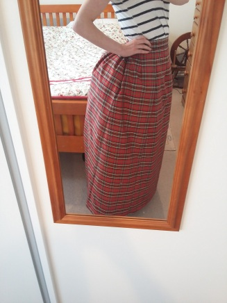 The completed underskirt.