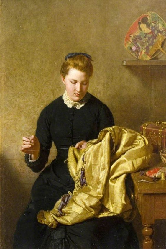The Little Seamstress by John Faed