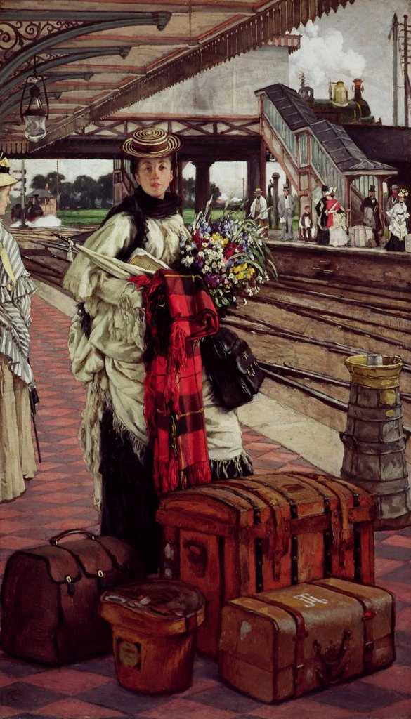 Waiting at the Station James Tissot c.1874