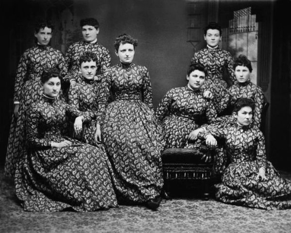 Women in matching dresses