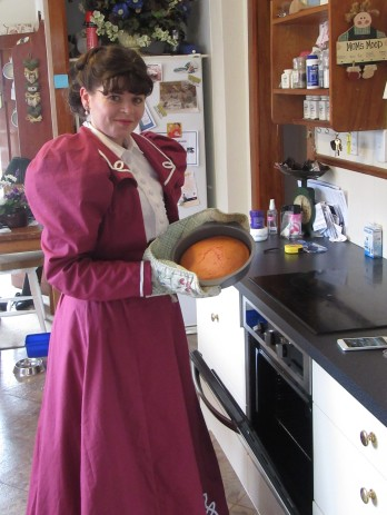 Yes it's possible to bake in a corset =)