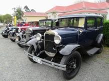 Vintage cars on display