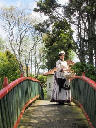 Liane on the bridge