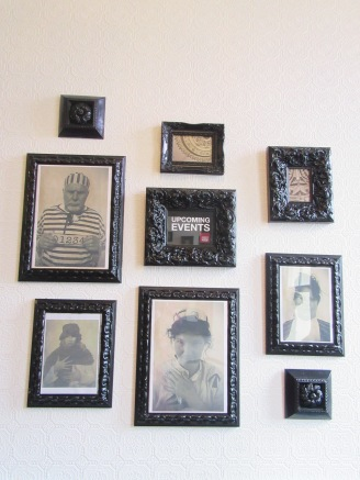 Some of the mugshots of staff on the wall