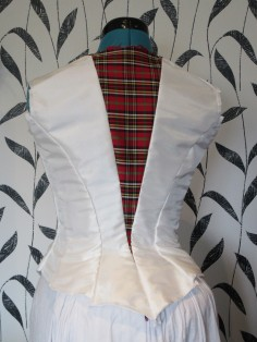 The back of the in-progress bodice