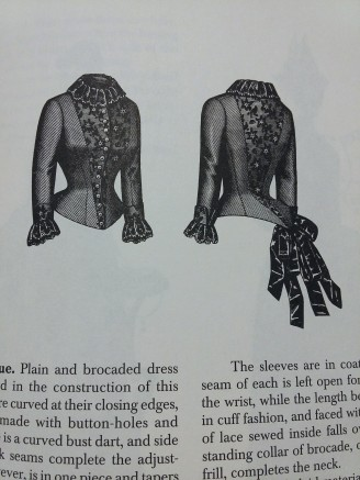 This bodice, in Frances Grimble's book caught my eye