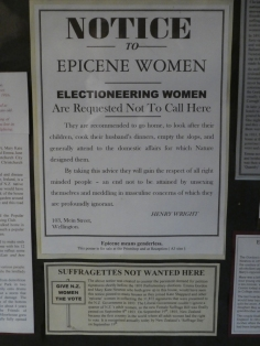 Being interested in New Zealand's suffrage history, I found this of some interest