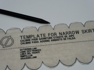 Tracing the template onto card