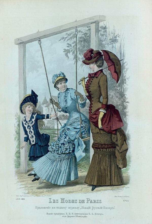 Les Modes de Paris 1882 swing