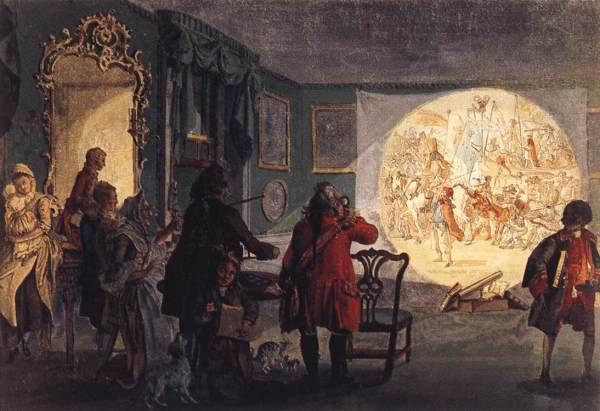 The Lantern Magica by Paul Sandby, circa 1760