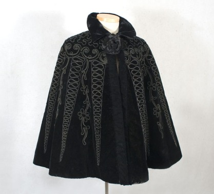 Cape embellished with beading and soutache