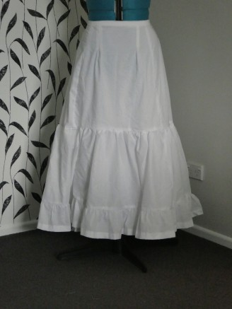 Mum's two petticoats together
