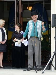 Delivering the mayor's good wishes and raising quite a few laughs