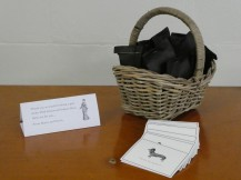 The thank you cards and gift bags
