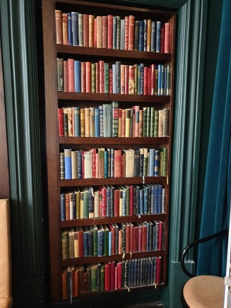 I didn't photograph the other brilliant decor but had to take one of the bookcase