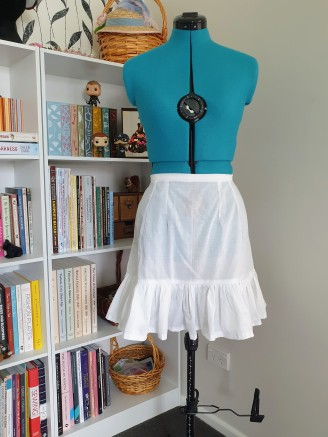 Second petticoat, a little longer than the first